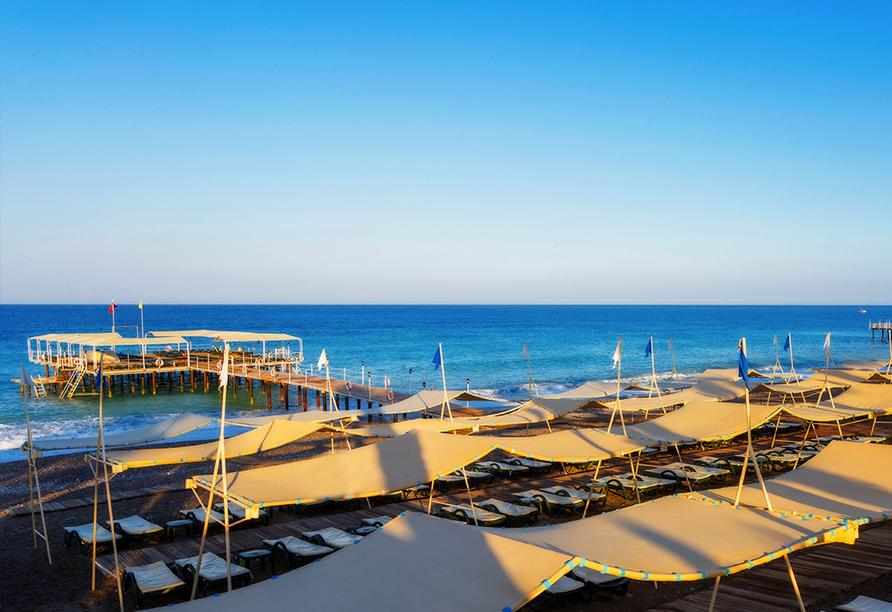 Hotel Mukarnas Spa Resort, Strandidylle