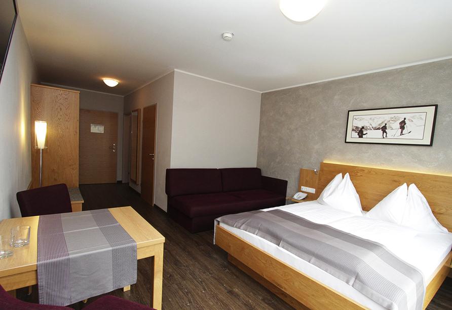 Hotel Almrausch in Saalbach Hinterglemm, Beispieldoppelzimmer