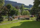 Hotel Almrausch in Saalbach Hinterglemm, Garten