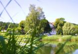 Hotel Das Alte Kurhaus in Lisberg-Trabelsdorf in Oberfranken, Außenansicht