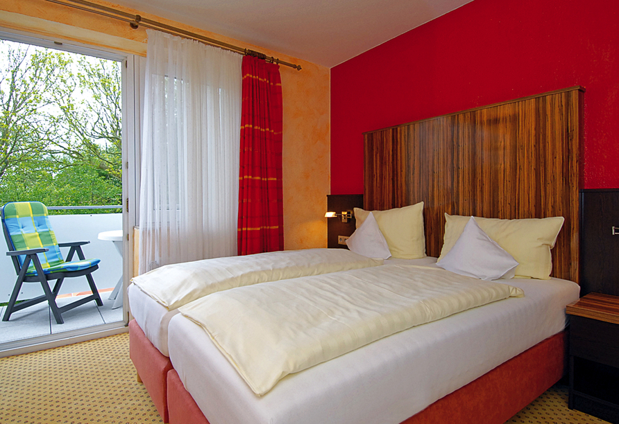 Hotel & Restaurant Nordstern in Neuharlingersiel, Beispieldoppelzimmer