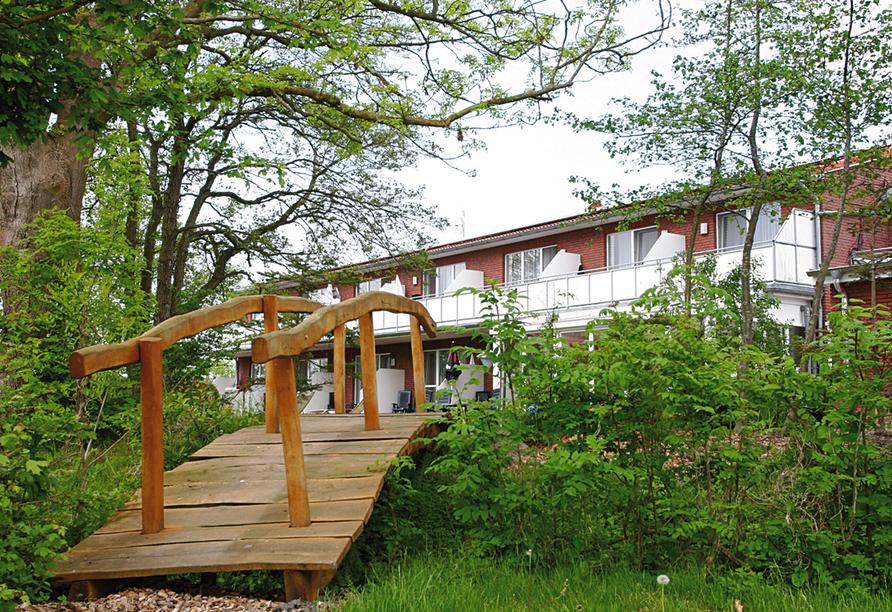 Hotel & Restaurant Nordstern in Neuharlingersiel, Garten