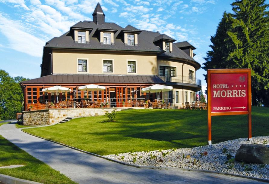 Golf Hotel Morris in Marienbad in Tschechien, Außenansicht