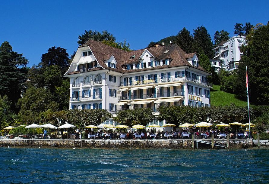 Hotel Central am See & Hotel Frohburg in Weggis, Außenansicht