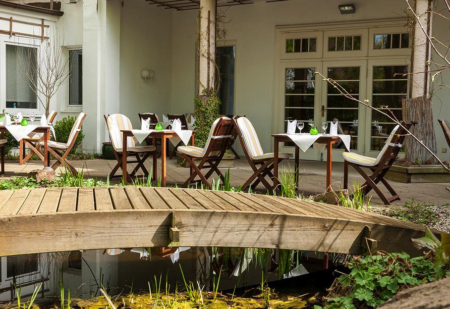 Bristol Hotel Bad Kissingen in der Rhön, Terrasse