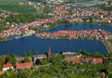 Sporthotel Malchow in Malchow an der Mecklenburgischen Seenplatte Luftaufnahme