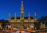 Hotel Mozart in Wien Österreich, Christkindlmarkt