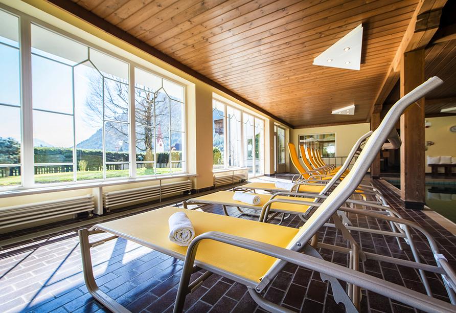 Hotel Antholzerhof in Antholz, Aussicht Liegewiese