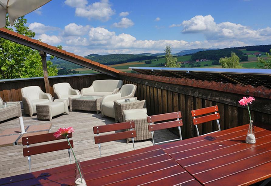 Hotel Rhön Residence in Dipperz in der Rhön, Dachterrasse