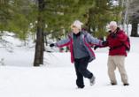 Hotel Rennsteig Masserberg im Thüringer Wald, Paar im Schnee