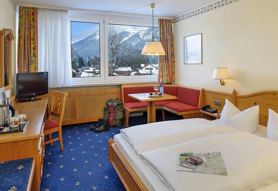 Mercure Hotel Garmisch-Partenkirchen in Bayern, Zimmerbeispiel