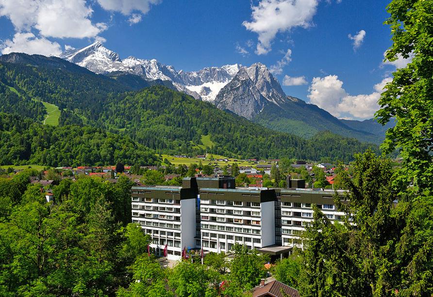 Mercure Hotel Garmisch-Partenkirchen in Bayern, Außenansicht