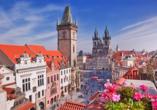 Hotel Don Giovanni Prag Kathedrale und Uhrenturm