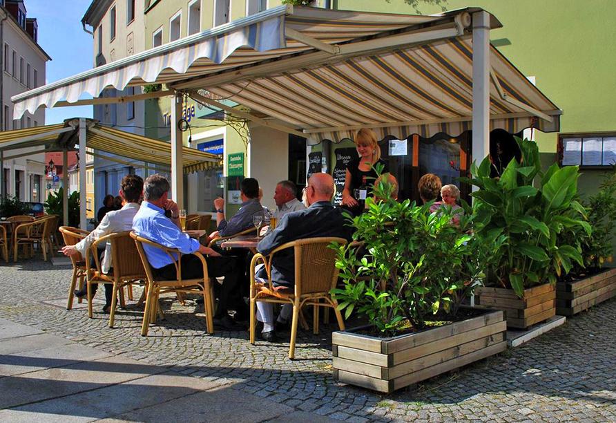 Hotel Evabrunnen Bischofswerda, Terrasse