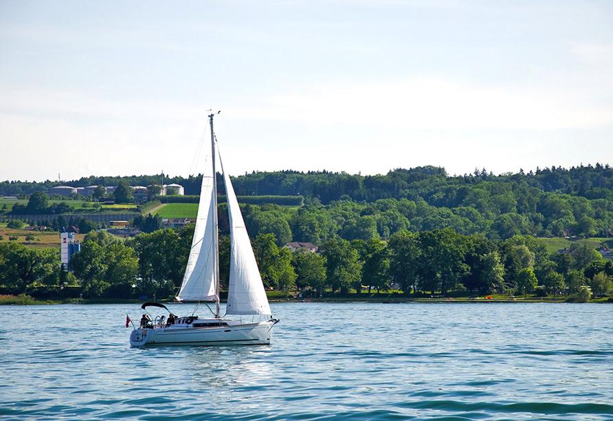 Ko'Ono Hotel & Restaurant, Konstanz, Bodensee, Segelboot