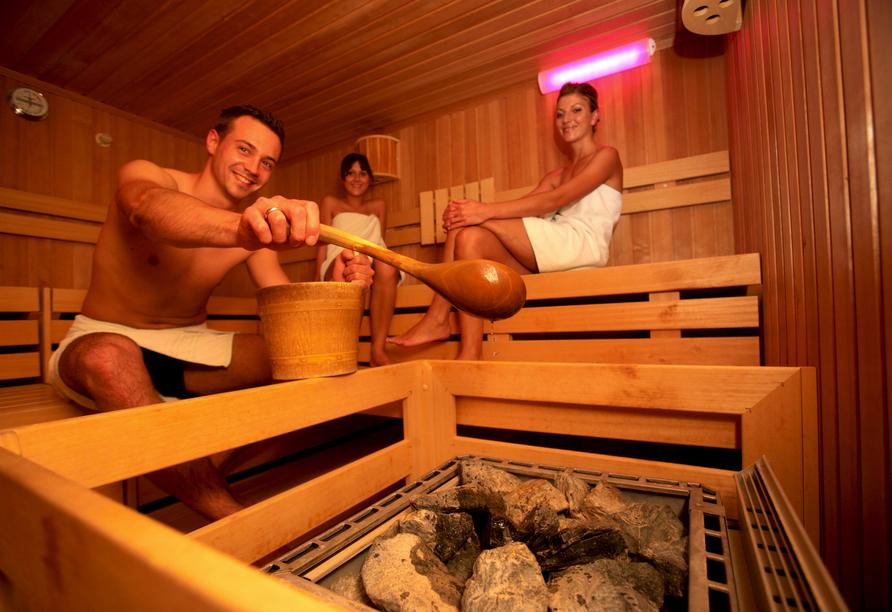 Sauna im aqualux Wellnesshotel