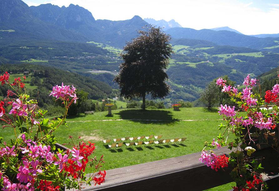 Naturhotel Wieserhof in Ritten in Südtirol, Hotelpark