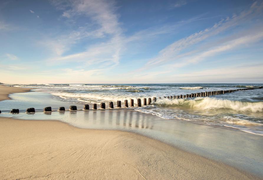 Akces Medical FIT&SPA, Kolberger Deep, Polnische Ostsee, Strand