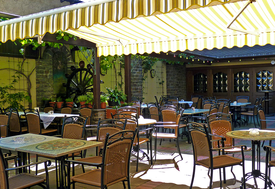 Hotel Pistono in Dieblich an der Mosel Biergarten