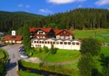 Waldhotel Seebachschleife in Bayerisch Eisenstein im Bayerischen Wald, Außenansicht