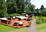 Hotel Saigerhütte in Olbernhau im Erzgebirge, Garten