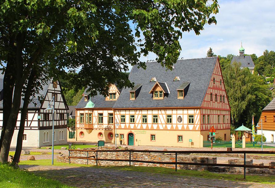 Hotel Saigerhütte in Olbernhau im Erzgebirge, Außenansicht