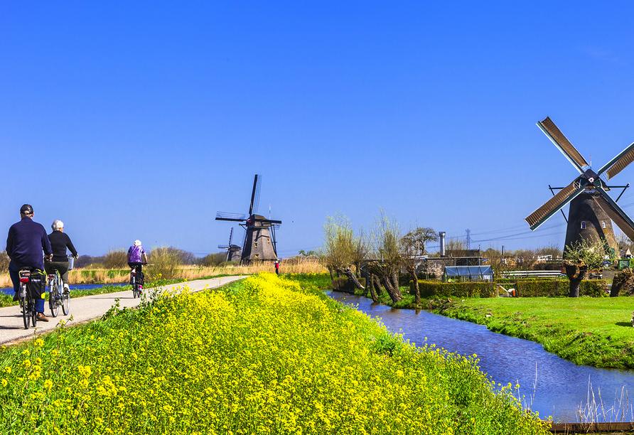 Stadt, Strand, Tulpen Tour, Mit dem Rad durch Holland