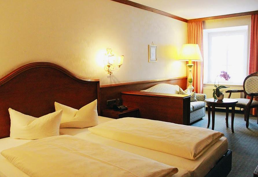Post Hotel Mittenwald, Beispiel Doppelzimmer