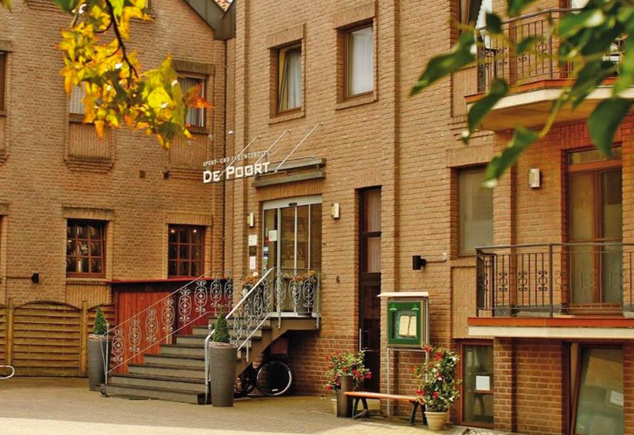 Hotel De Poort in Goch am Niederrhein, Außenansicht