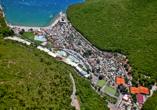 Residence Mobile Homes Oliva, Rabac, Istrien, Kroatien, Vogelperspektive