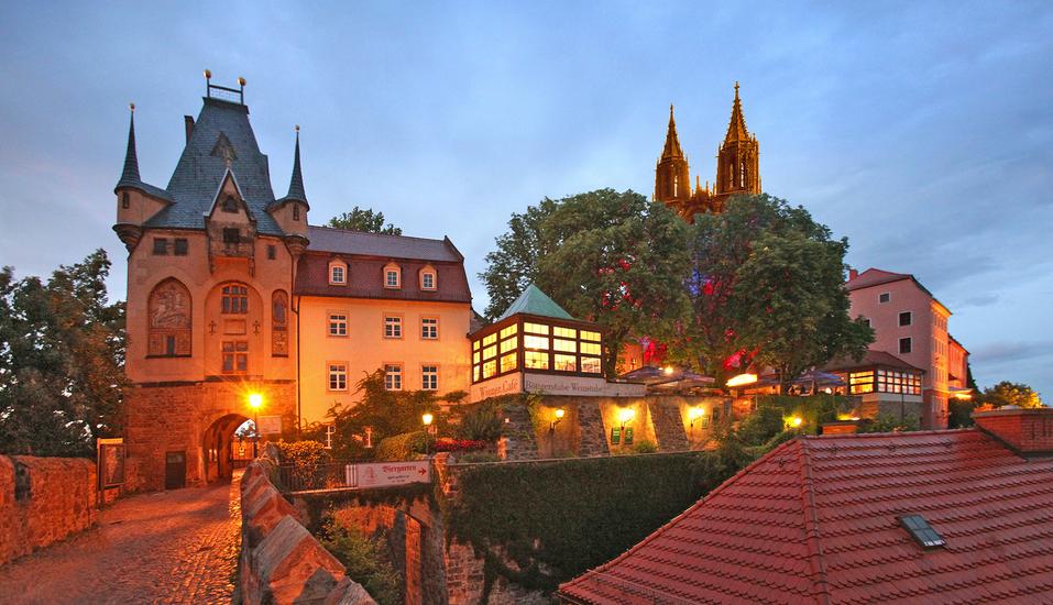 Romantikhotel Burgkeller in Meißen Sachsen, Außenansicht