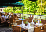 Golf Hotel Morris in Marienbad in Tschechien, Terrasse