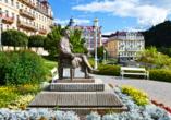 Golf Hotel Morris in Marienbad in Tschechien, Goethe
