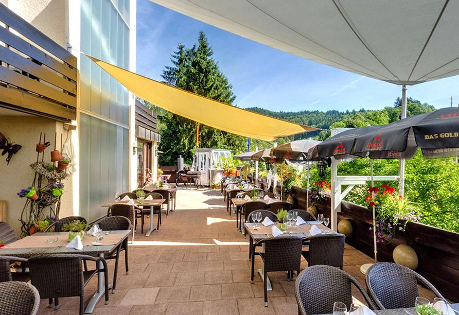 Hotel Erdmannshöhle in Hasel im Schwarzwald, Terrasse