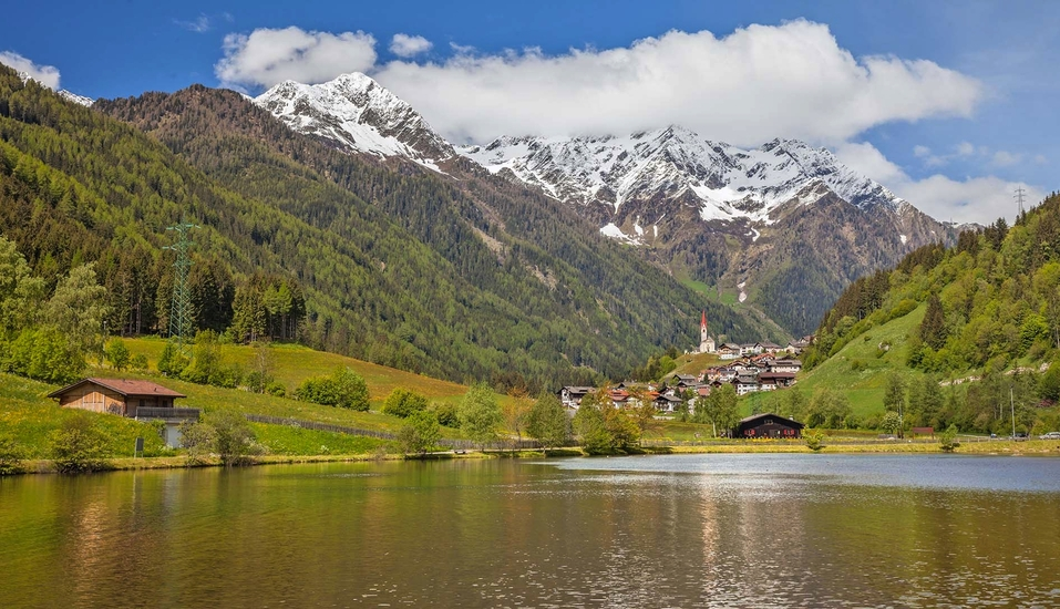 Berghotel Alpenrast in Rein in Taufers Südtirol, Mühlwalder See