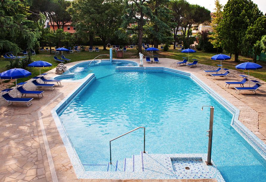Hotel Terme Bologna in Abano Terme, Außenpool
