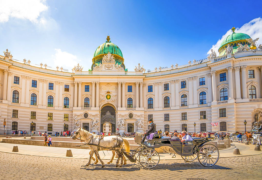Hotel Mozart in Wien Österreich, Hofburg Fiaker