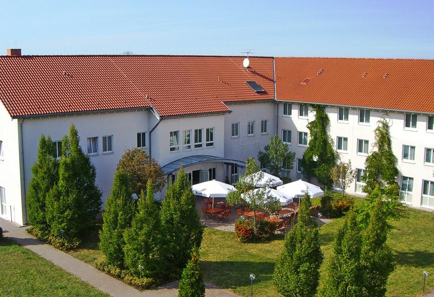Novum Hotel am Seegraben in Cottbus, Außenansicht
