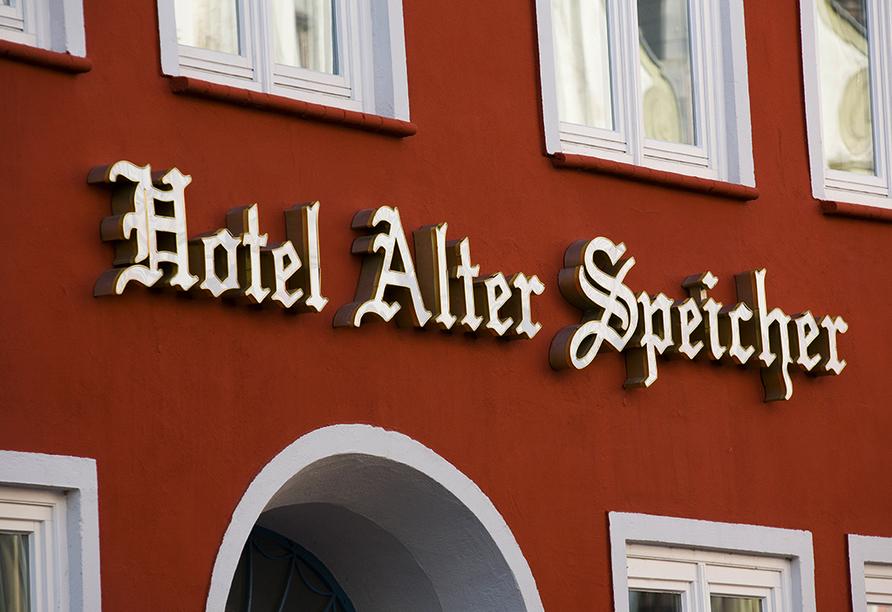 Hotel Alter Speicher in Wismar, Außenansicht