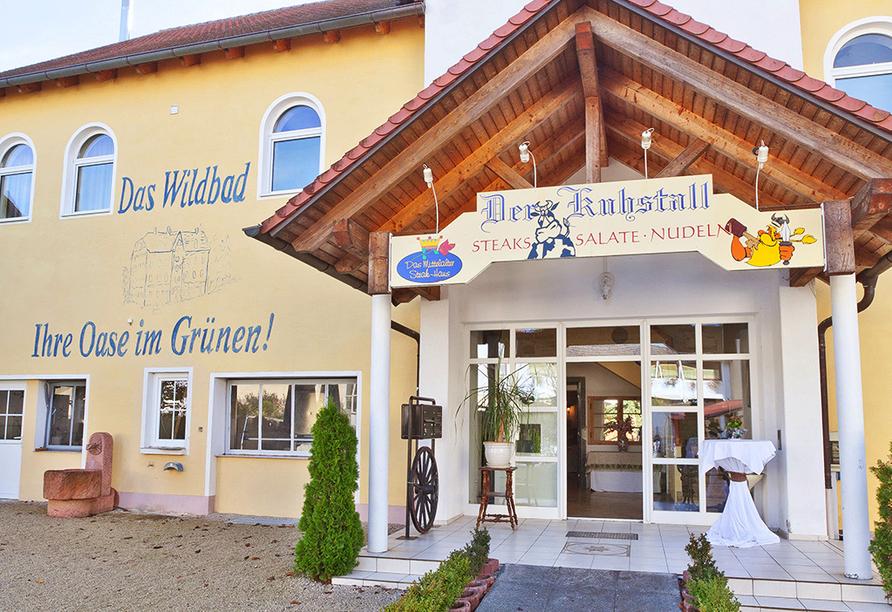 Seebauer Hotel Gut Wildbad, Außenansicht Kuhstall