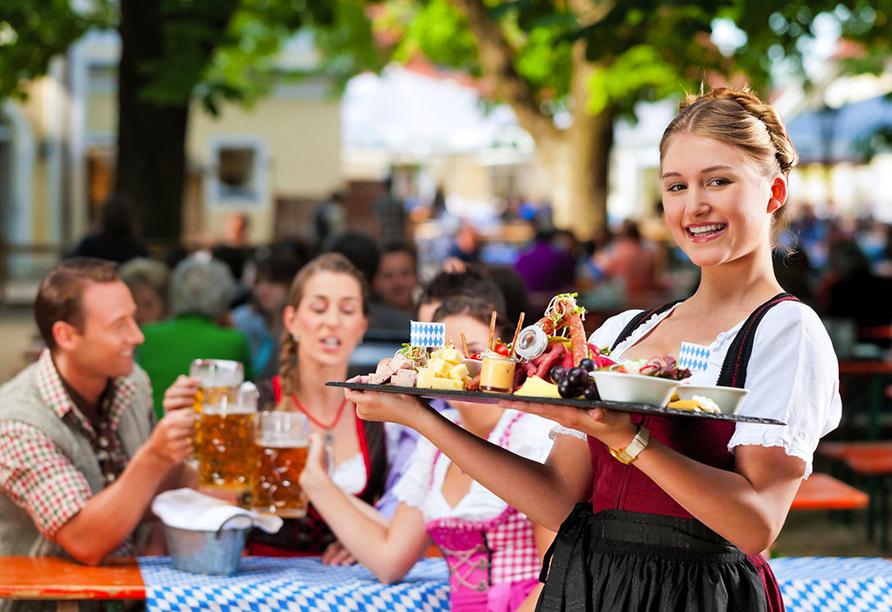 Bavaria Motel in München in Bayern, Biergarten