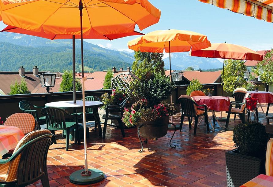 DEVA Hotel Sonnleiten in Reit im Winkl Chiemgau Bayern, Terrasse