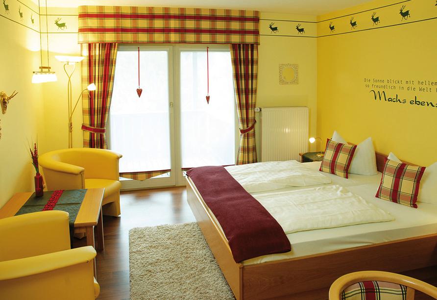 Landhotel Christopherhof in Grafenwiesen, Beispiel Doppelzimmer