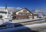 Hotel Sonne in Wildhaus, Außenansicht Winter