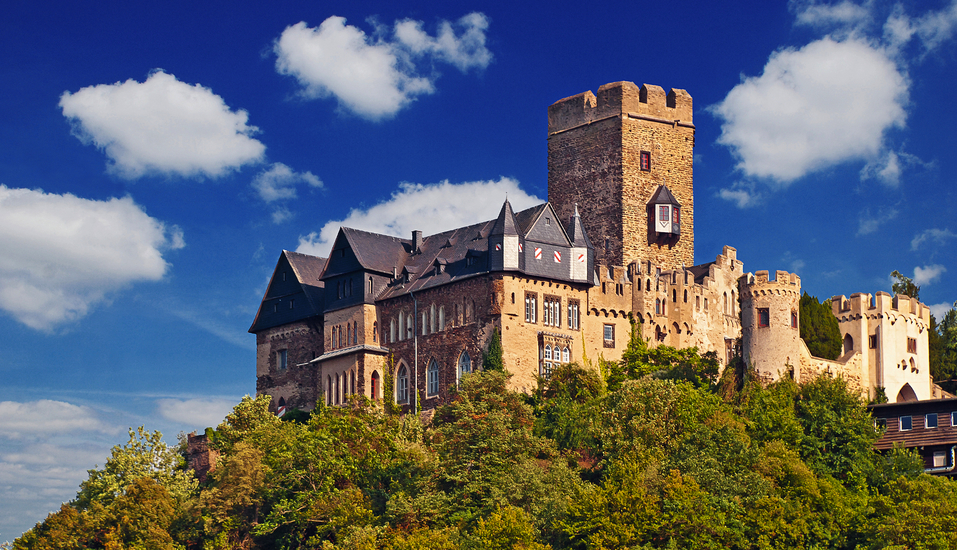 Wyndham Garden Lahnstein Koblenz Hotel in Lahnstein im Oberen Mittelrheintal, Ausflugsziel Burg Lahneck