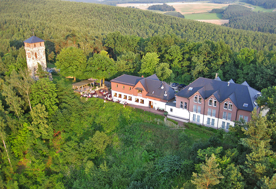 Panoramahotel am Marienturm in Rudolstadt im Thüringer Wald, Lage