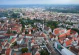 Orange Hotel und Apartments in Neu-Ulm Mittelschwaben, Blick auf Neu-Ulm