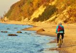 Erholungsanlage Jantar in Rewal an der polnischen Ostsee Radfahren