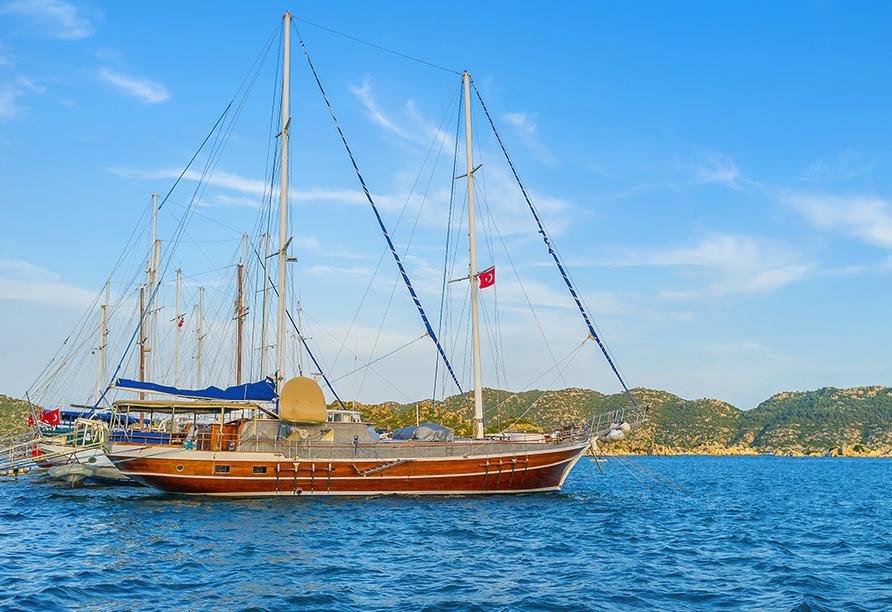 Lykien & Türkische Riviera, Bootsfahrt