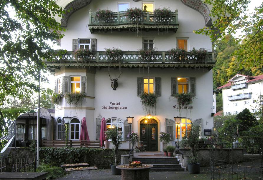 Hotel Kolbergarten in Bad Tölz in Bayern, Außenansicht